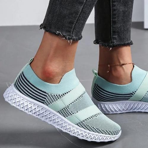 Flat Slip-on Polyurethane Sneakers