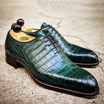 Lace-Up Pointed Toe Men's Dress Shoes