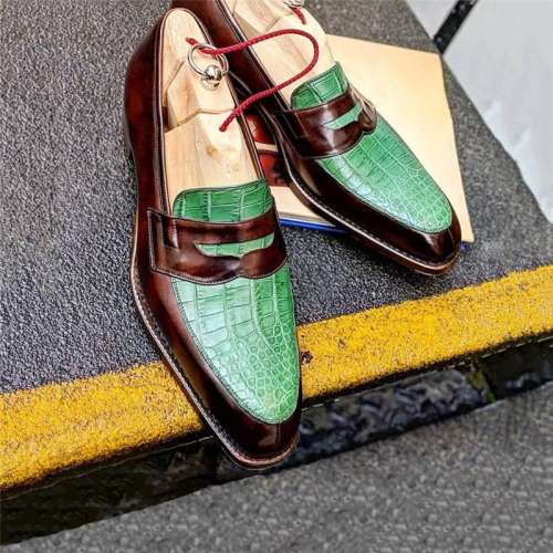Men's Color Design Slip on Shoes