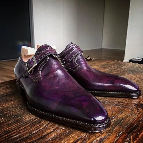 Business Formal Purple Leather Shoes