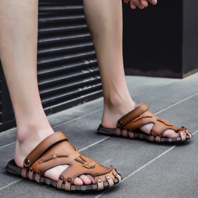 Men's Soft Beach Leather Sandals