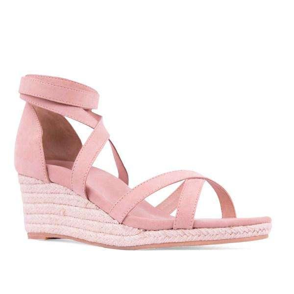 Women's wedge suede strap sandals