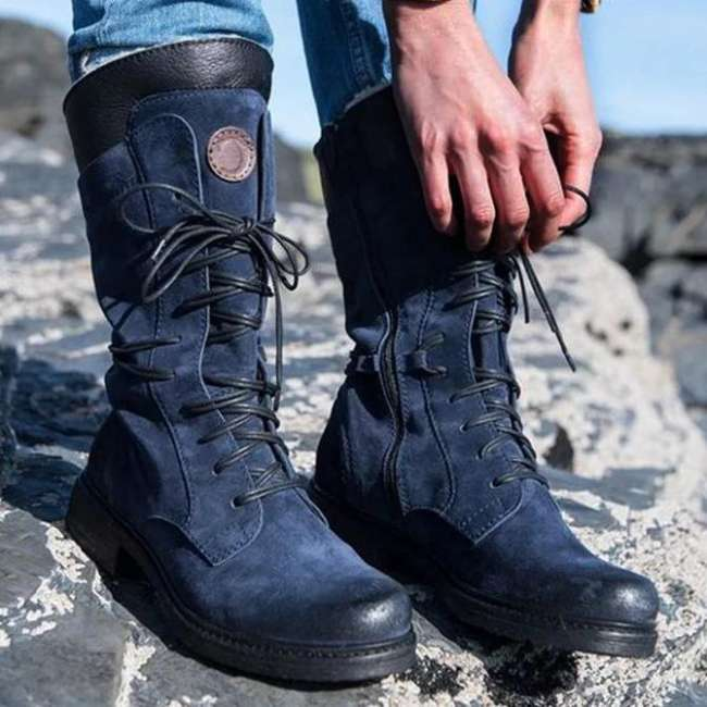 Artificial Leather Party & Evening Winter Zipper Boots