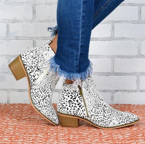 Women's Low Heel Ankle Bootie