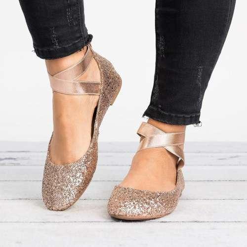 *Women Pu Nubuck Flats Casual Ballerina Shoes Hangout Shoes