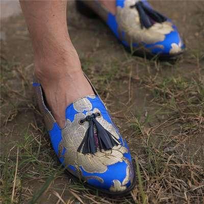 Men's Casual Lazy Tassel Pattern Slip-on Driving Shoes