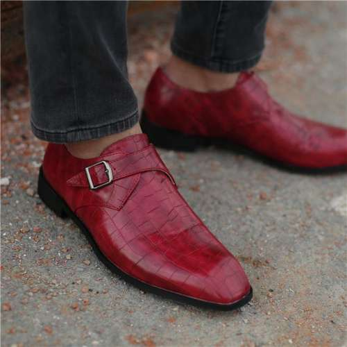 Men PU Leather Brogue Dress Shoes