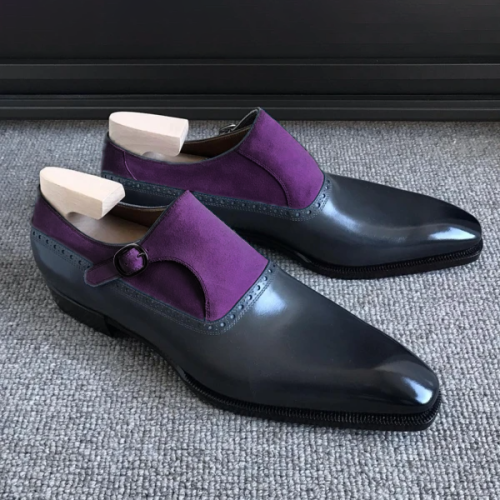 Oxford Leather Suede Men'S Shoes