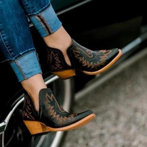 Women Vintage Western Boots