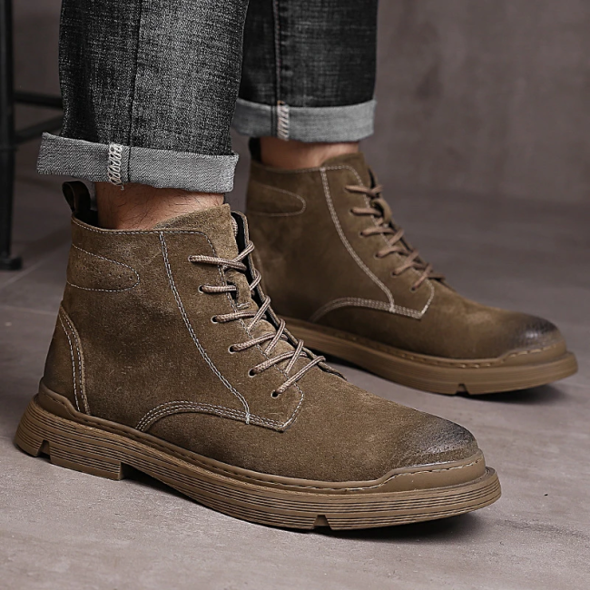 Men's Non-Slip Wear-Resistant Leather Comfortable Casual Boots