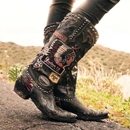 Women Vintage Eastern Boots