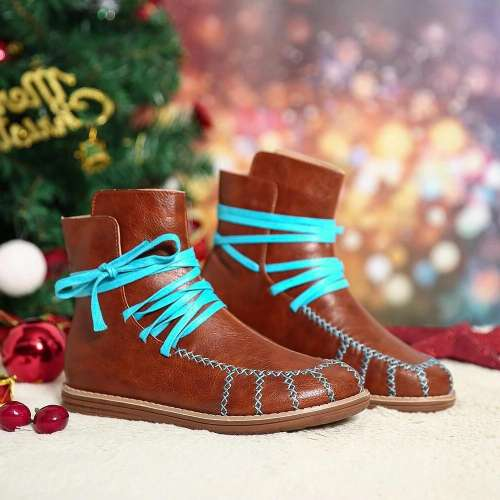 >>Christmas Gift  Women Lightweight Slip Resistant Lace Up Boots