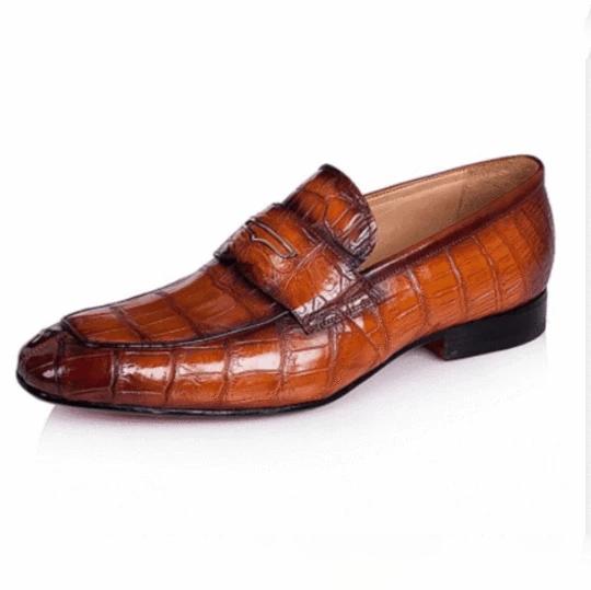 Men's Stone Pattern Retro Temperament Business Leather Shoes