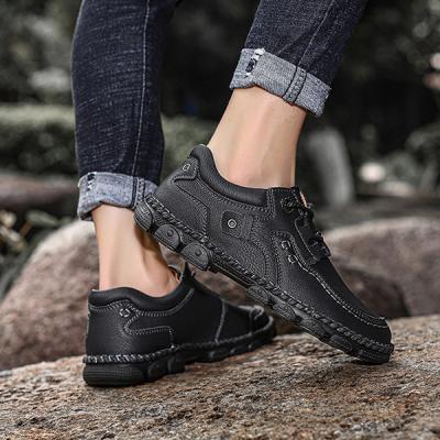 Men's Lace-up Flat Casual Fashion Vintage Genuine Shoes
