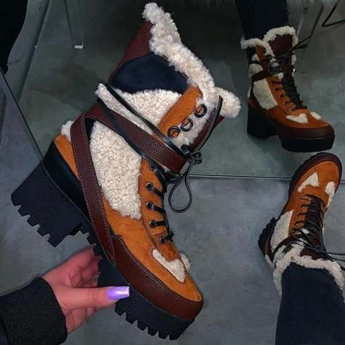 Warm Thick-Soled Fashion Autumn Winter Boots