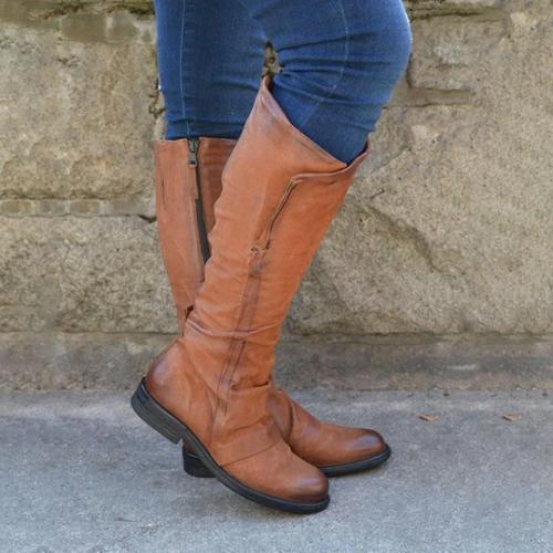 Women's Vintage Comfy Knee-High Boot