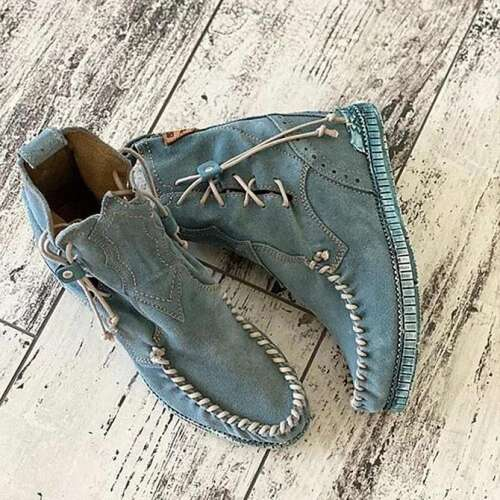 Daily Suede Flat Heel Boots