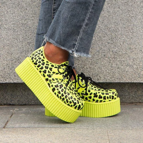 Cheetah Zebra Unisex Platforms Shoes