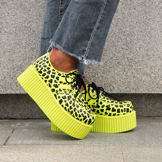 Cheetah Zebra Unisex Platforms Shoes