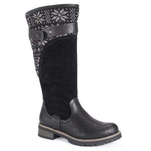 Women Kelsey Boots Zipper Knitted Fabric Boots