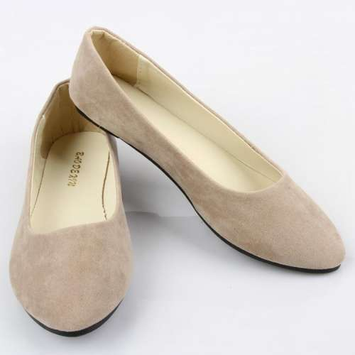 *Suede Candy Color Pure Color Pointed Toe Light Slip On Flat Shoes