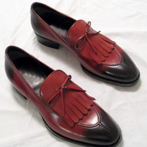 Handmade Men'S Fringe Split Toe Shoes