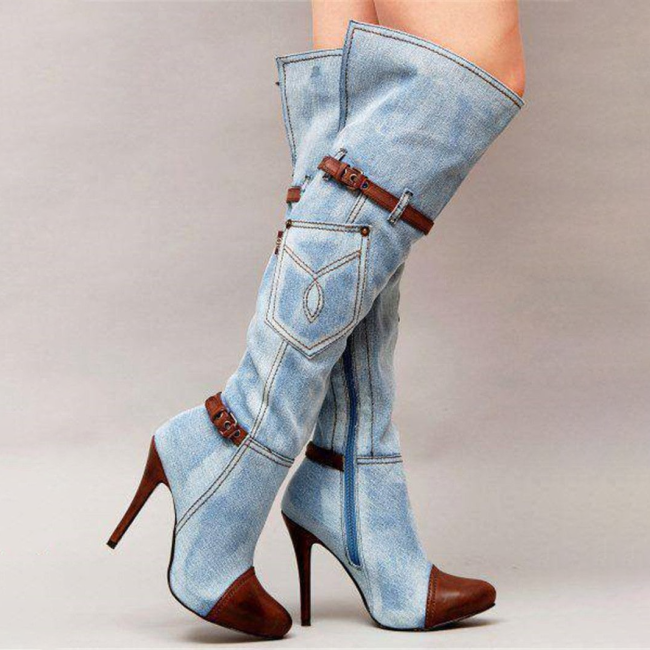 Hot Sell Women Length To Knee Boots