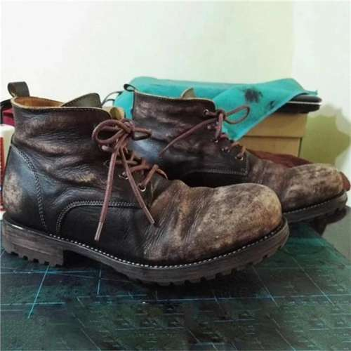 Men's Vintage Leather Ankle Boots