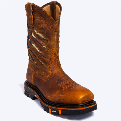 Men's Flag Western Work Boots - Nano Composite Toe
