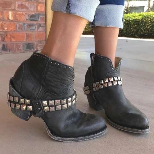 All Season Chunky Heel Boots
