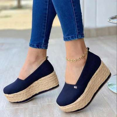 Women's Casual Platform Wedge Loafers