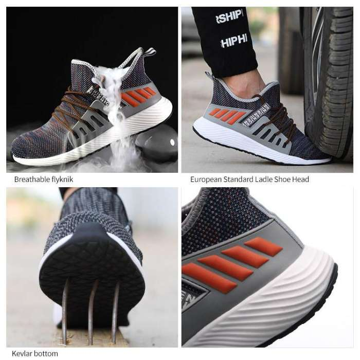 Breathable Safety Shoes Steel Toe Work Shoes Men Puncture-proof