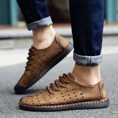 Low-Cut Upper Flat With Lace-Up Sports Round Toe Loafers