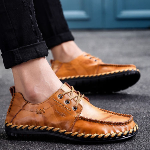 Men's Lace-up Handmade Flat Shoes