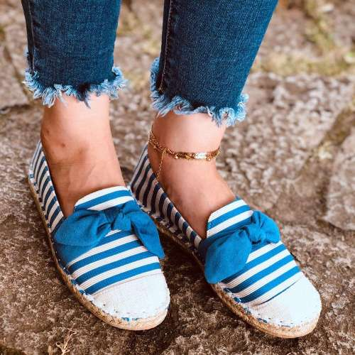 Women's Most Popular Laces Round Toe All Season Flats Shoes