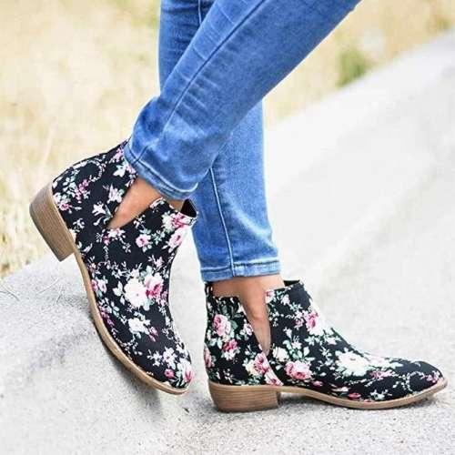 Winter Low Heel Boots