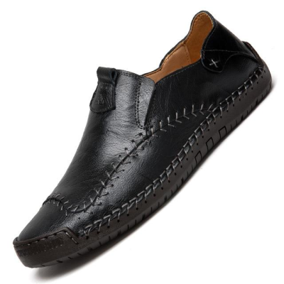 Men's Genuine Leather Handmade Soft Moccasins Flats Driving Shoes