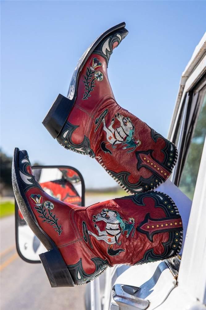 >>Christmas Gift  Women's Midnight Cowboy Namesake Character Low Heel Ankle Bootie