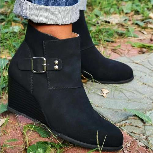 Fashion High Heel Pointed Martin Boots