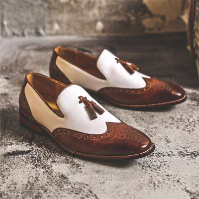 Fashion Men Leather Pointed Buckle Formal Shoes