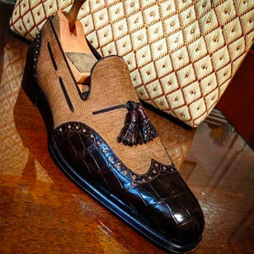 New Trend Brogue Tassel Loafers