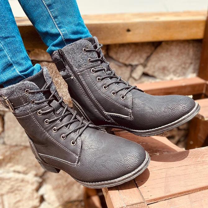 Date Block Heel Autumn Ankle Boot