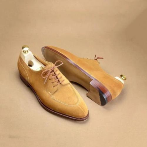 Vintage British Suede Leather Men's Casual Shoe