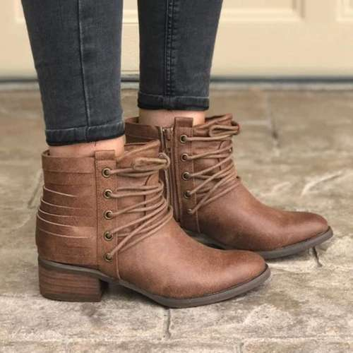 All Season Artificial Leather Boots