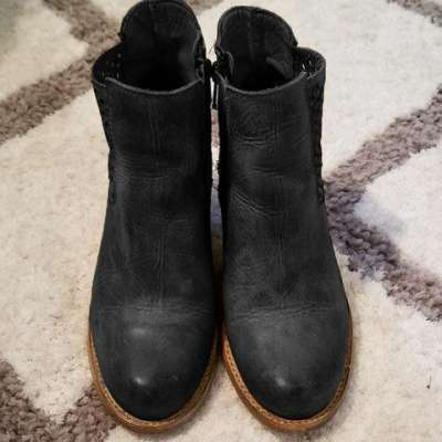 Women Vintage Wedge Boots Casual Chic Zipper Boots