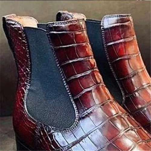 Men's New Fashion Alligator Boots