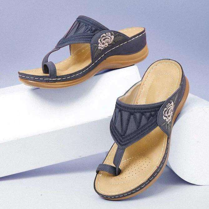Pu Embroidery Summer Sandals