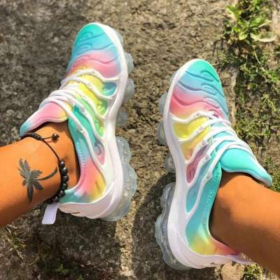 Fashion Slip-On Flat With Color Block Women Sneakers