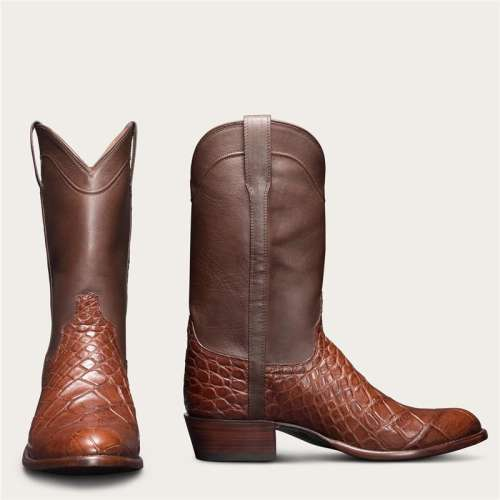 Men's Alligator Skin Cowboy Boots - American Gator Boot