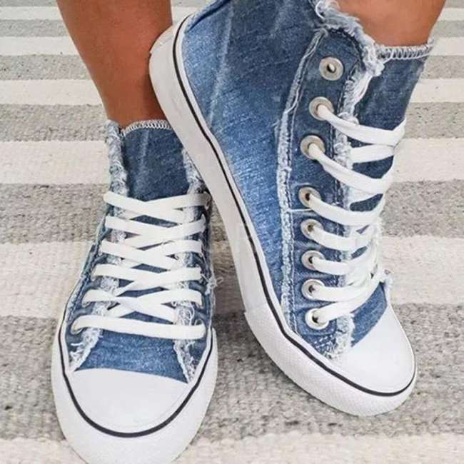 Denim  style canvas Sneakers